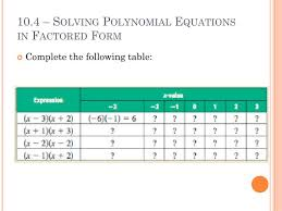 ppt chapter 10 polynomials and factoring powerpoint 720x540
