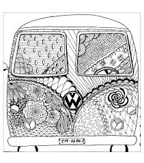 free coloring page coloring zentangle by cathym 8 u0027hippie camper