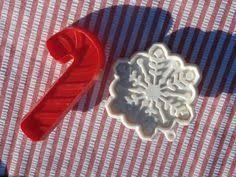 4 christmas cookie cutters ornament santa head tree angel