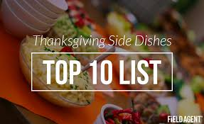 dish out their top 10 thanksgiving sides infographic