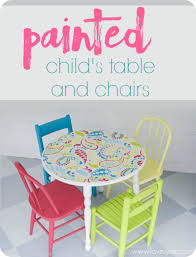 Child Table And Chair Colorful Painted Child U0027s Table And Chairs Lovely Etc