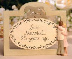 silver anniversary ideas silver 25th anniversary personalized plate on wood base 25th
