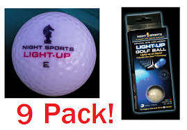 light up golf balls tracer night sports light up golf ball 9 pack
