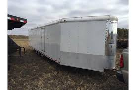 V Nose Enclosed Trailer Cabinets by Haulmark 35 U0027 V Nose Enclosed Snowmobile Trailer Six Place Tri