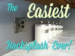 Diy Kitchen Backsplash The Easiest Diy Kitchen Backsplash Ever Hometalk