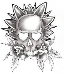 skull and roses i by christoperpatrick on deviantart