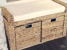 Wicker Storage Bench Banana Leaf Wicker Storage Bench Product Review Video Youtube