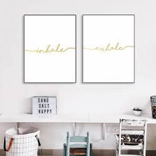 aliexpress com buy inhale exhale quote poster prints minimalist