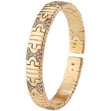 golden cuff bracelet images Bulgari parentesi diamond gold cuff bracelet at 1stdibs jpg
