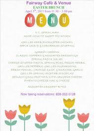 Easter Brunch Buffet Menu by Easter Buffet At Fairway Cafe U0026 Venue Casa Rustica Boone Nc