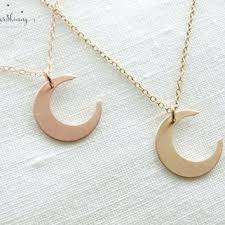 moon pendant necklace gold images Light pink jewelry pendant necklace light from mytinystarshining jpg