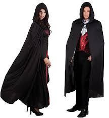 Halloween Reaper Costume Long Hooded Cape Cloak Coat Fancy Dress Grim Reaper Costume