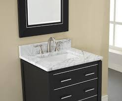Manhattan  Inch Black Contemporary Bathroom Vanity - Bathroom vanities with tops 30 inch
