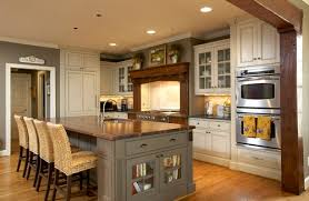 kitchen island different color than cabinets craftsman kitchens