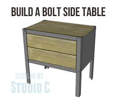 How To Build A End Table With Drawer by Build A Bolt Side Table U2013 Designs By Studio C
