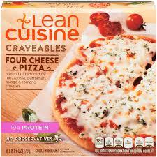 are lean cuisines healthy lean cuisine craveables four cheese pizza calories nutrition