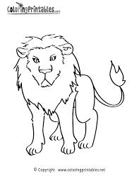 lion coloring free animal coloring printable