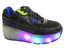 womens roller boots uk foster footwear agaxy wheel led light up mesh roller