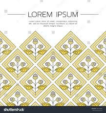 simple template geometric acorn leaves made stock vector 485333503