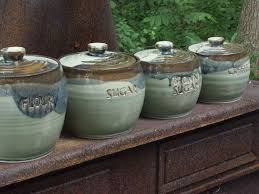 pottery canisters kitchen best 25 ceramic canister set ideas on kitchen