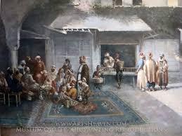 Ottoman Cafe Leonardo De Mango Ottoman Cafe Painting Reproduction On Canvas