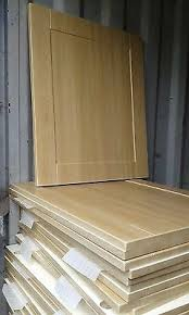 howdens kitchen cabinet doors only shaker light oak kitchen cupboard doors drawers to fit howdens magnet wren units ebay