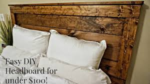 diy rustic headboard for under 100 youtube diy rustic headboard for under 100