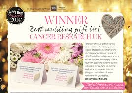 wedding fund websites best wedding list websites uk best of cancer research uk winners