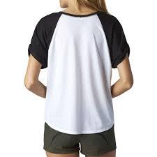 fox motocross t shirts racing transitory raglan v neck tee girls womens ladies white