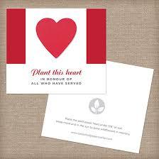 canadian seed paper veteran memorial cards veteran
