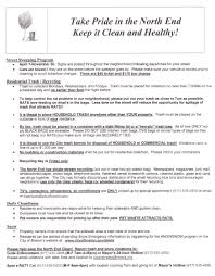 north end cleanliness tip sheet northendwaterfront com