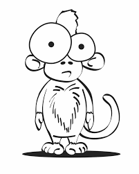 cartoon monkey coloring pages coloring