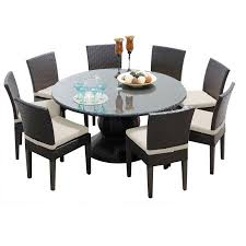 60 Inch Patio Table Pluto 60 Inch Outdoor Patio Dining Table With 8 Chairs Walmart