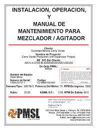 manual del agitador gear corrosion