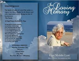 sle memorial programs loved one free microsoft office funeral service or