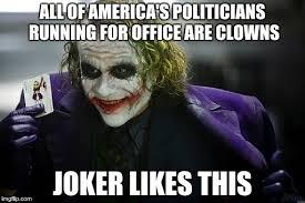 Dark Knight Joker Meme - joker s opinion on the election imgflip