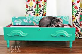 Floating Dog Bed Spoiling The Dog Diy Dog Bed Repurposed Dresser Drawer Hometalk
