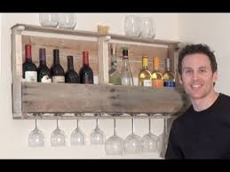 how to build a wine rack from a wood pallet youtube