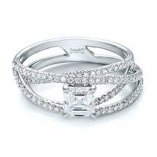 engagement bands rings images Custom pave diamond multi band engagement ring 100612 jpg