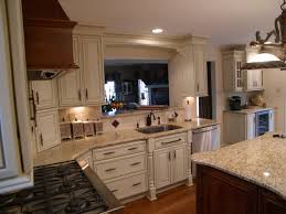 Kitchen Cabinets With Windows Decorating Mid Continent Cabinetry With Blue Kitchen Cabinets And