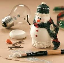 lightbulb snowman craft 300x293 find projects to do at