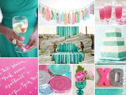 aquamarine wedding aquamarine and hot pink hot pink weddings green aqua and