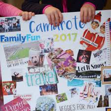 our 2017 kid created family vision board kids crafts toddler