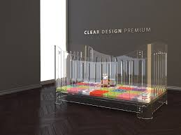 baby cot clear design perspex acrylic and plexiglas display