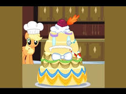 my little pony games play applejack u0027s wedding cake creator