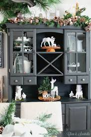 Decorating A Hutch 2015 Christmas Home Tour Part 1 Clean And Scentsible
