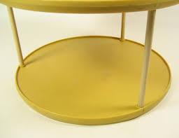 vtg rubbermaid mustard yellow turntable lazy susan kitchen