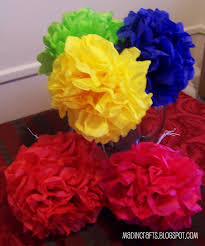 mexican paper flowers mad in crafts mexican night pinterest