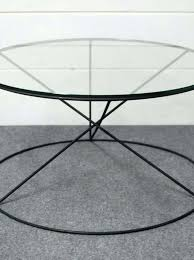 Round Glass And Metal Coffee Table Coffee Table Calypso Round Glass Coffee Tableround Table Metal