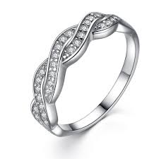 does the woman buy the s wedding band sterling silver cubic zirconia cut infinity women s wedding